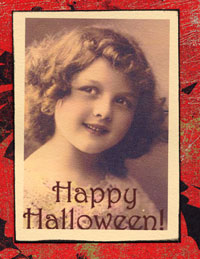 Altered vintage photo for Halloween project