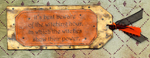 Scary Ladies Vintage Halloween Gift Tag - back