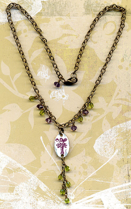 garden fairy necklace